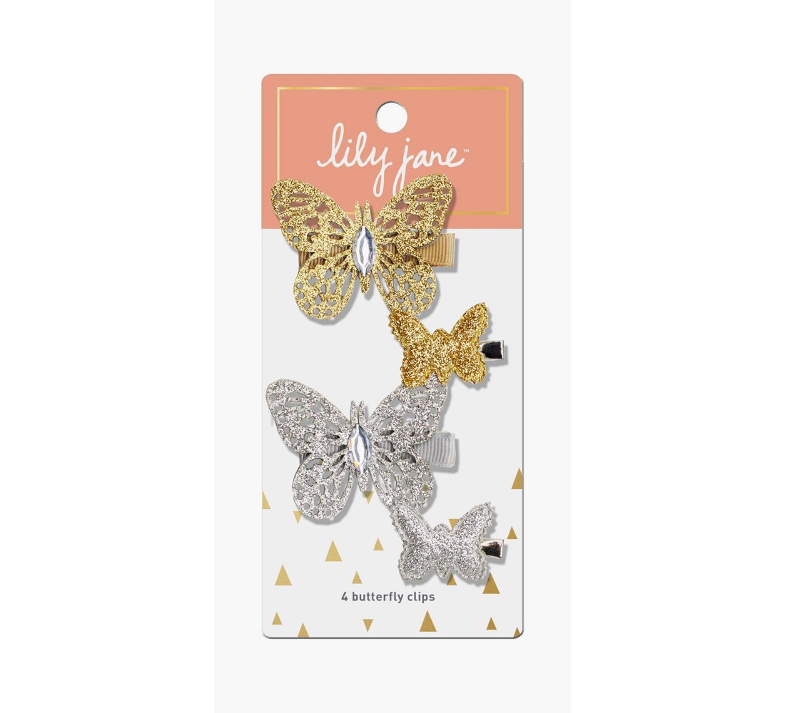 Lily Jane Butterfly Clips - 4ct
