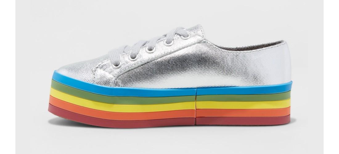 Girls' Kenya Rainbow Platform Sneakers - art class™