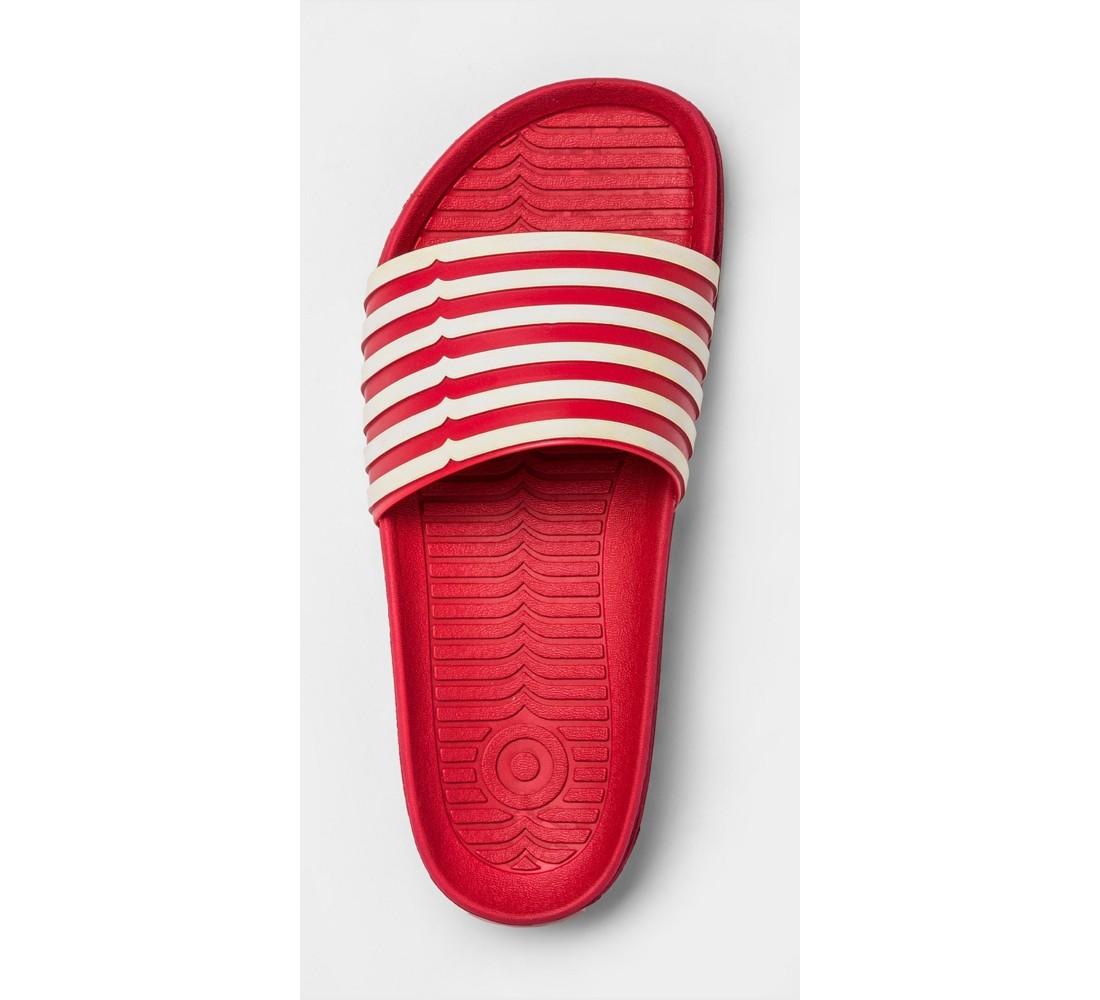 Hunter for Target Women's Striped Slide Sandals - Red/White