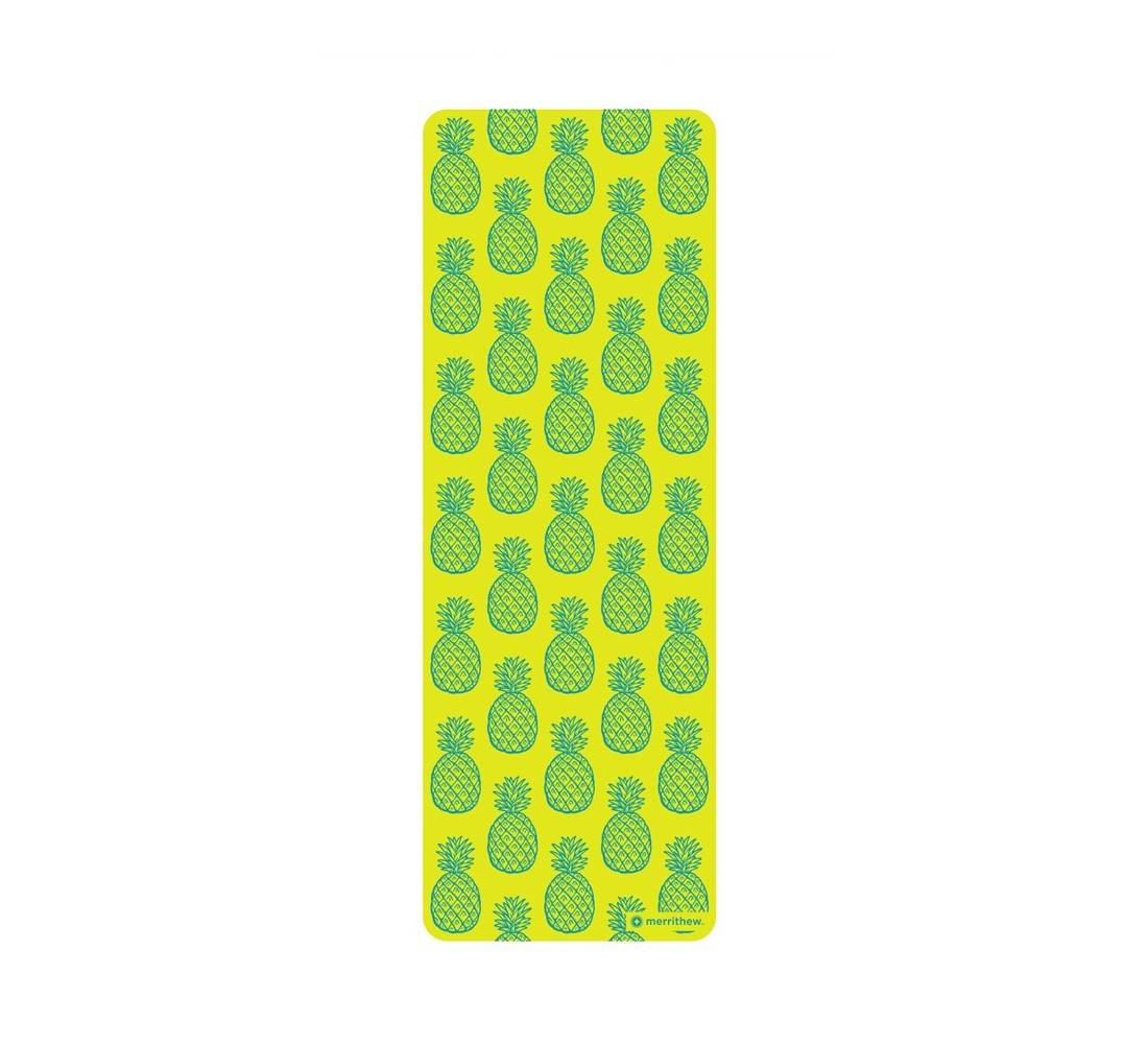 STOTT PILATES Pilates & Yoga Mat - Pineapples - Green (6mm)