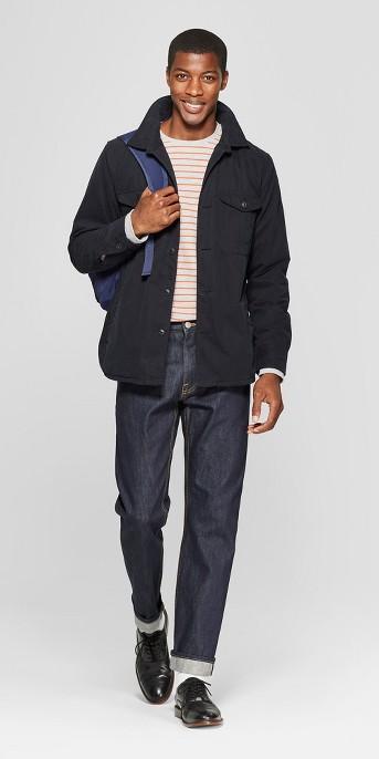 Men's Slim Fit Selvedge Denim - Goodfellow & Co™ Dark Rinse