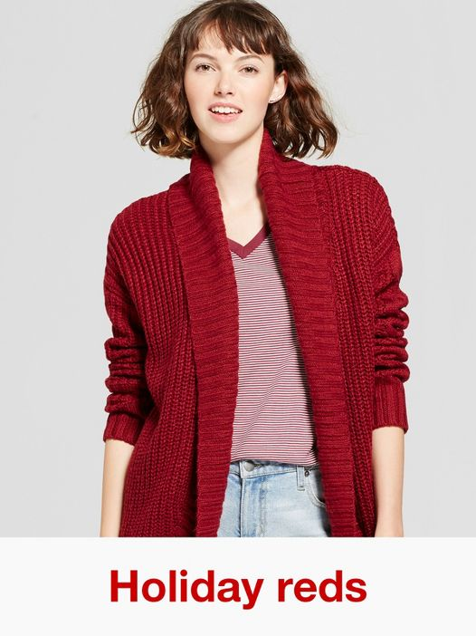 Red : Juniors' Sweaters : Target