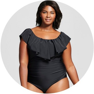 beach betty by miracle brands : plus size swimsuits : target