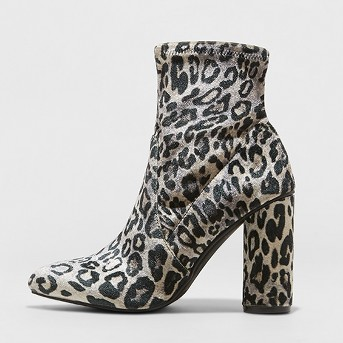 Women's Norma Cylinder Heeled Bootie - A New Day™