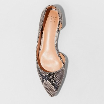 Women's Mohana D'orsay Pointed Toe Ballet Flats - A New Day™