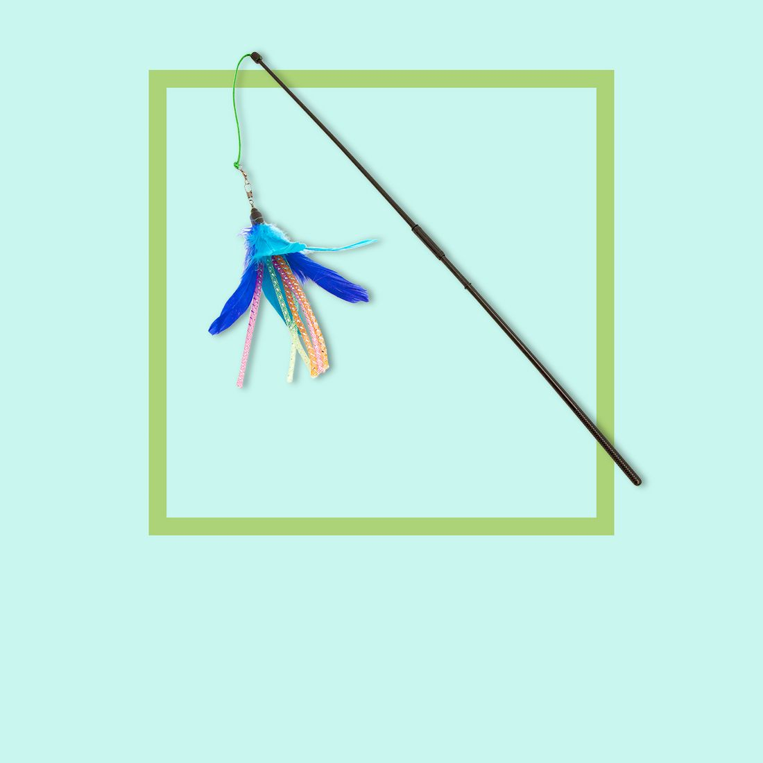 Feather & Straw Spinning Wand