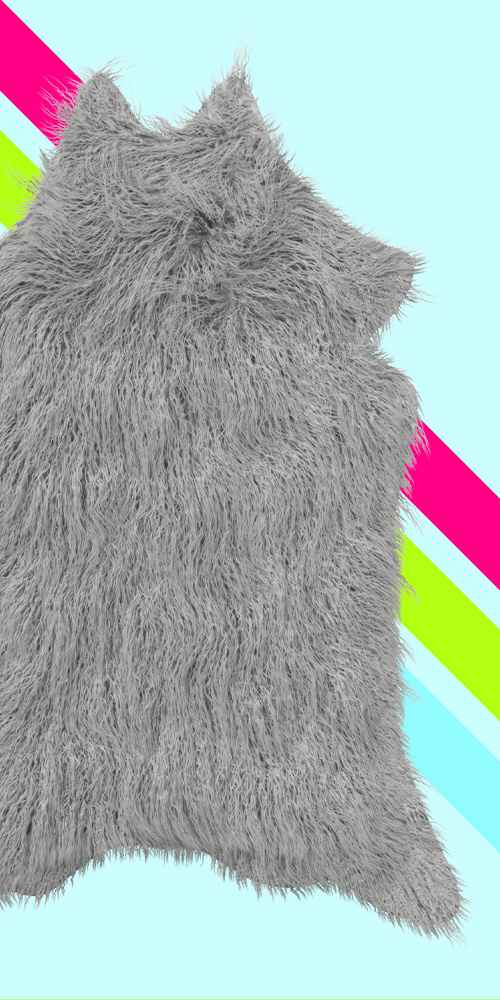 Mongolian Faux Fur Rug Gray - Project 62™