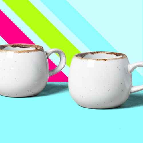 2pk Stoneware Reactive Glaze Round Mug Set Sour Cream - Hearth & Hand™ with Magnolia