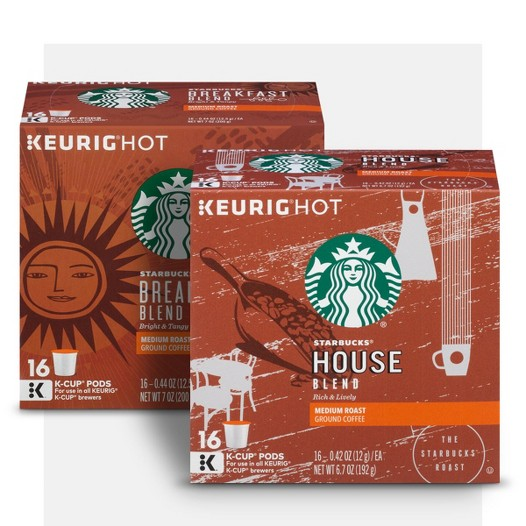 $9.99 Starbucks coffee when you buy 3 K-Cup packs.*