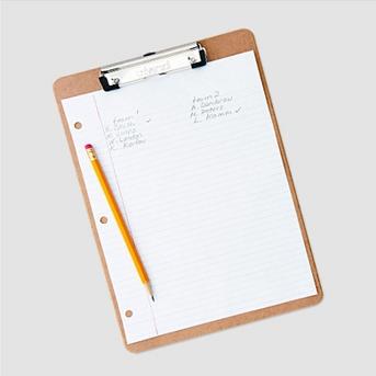Universal® Hardboard Clipboard, 1/2