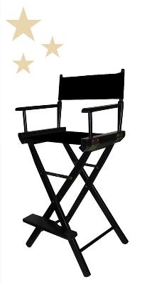 Bar-Height Director's Chair - Black Frame