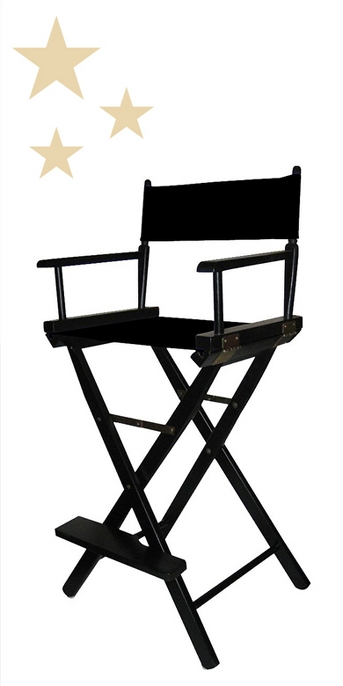 Bar-Height Director's Chair - Black Frame