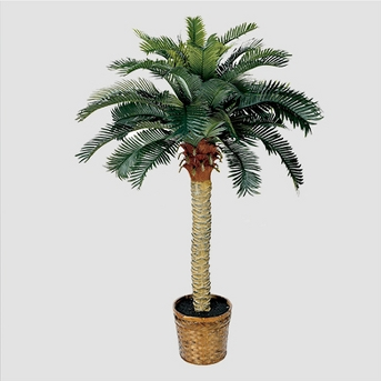 Nearly Natural Sago Silk Palm Tree Green (4