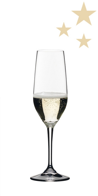Riedel Vivant 4pk Champagne Flute Set 9oz