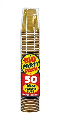 50ct Gold Cup Party Pack