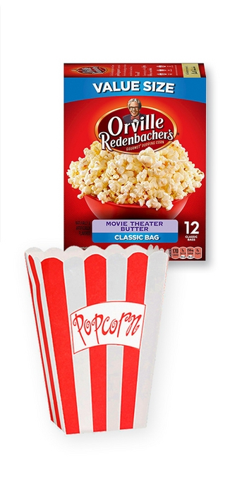 Orville Redenbacher's Movie Theater Butter Microwave Popcorn - 10ct, 8ct Popcorn Boxes, Large