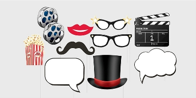 10ct Hollywood Lights Photo Booth Props