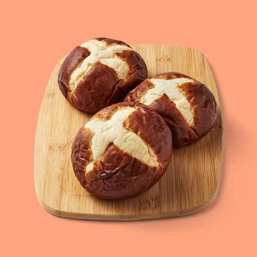 Pretzel Buns - 15.2oz/4ct - Favorite Day™, Brioche Hamburger Buns - 7oz/4ct - Favorite Day™