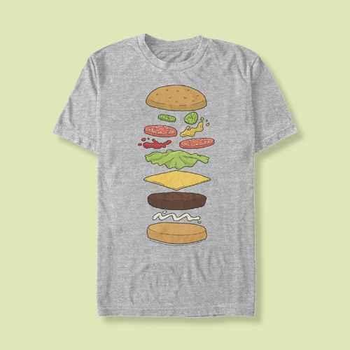 Men's Bob's Burgers Snack Schematics T-Shirt