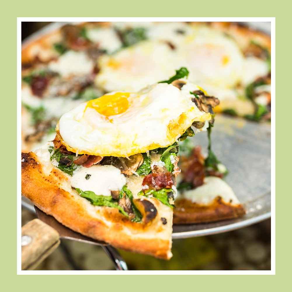 Pillsbury Classic Pizza Crust - 13.8oz, Organic Ultra Thin Pizza Crust - 10oz/2pk - Good & Gather™, Grade A Large Eggs - 12ct - Good & Gather™, Sliced Baby Bella Mushrooms - 8oz - Good & Gather™, Hormel Black Label Thick Cut Bacon Slices - 16oz, Organic Baby Spinach - 5oz - Good & Gather™, Finely Shredded Pizza Blend Cheese - 8oz - Good & Gather™
