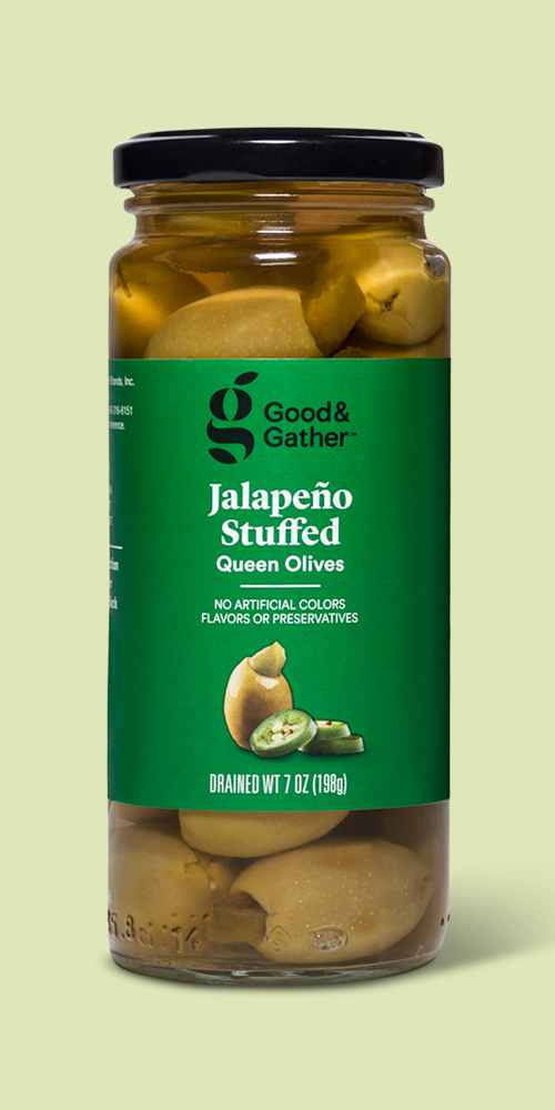 Jalapeno Stuffed Queen Olives - 7oz - Good & Gather™