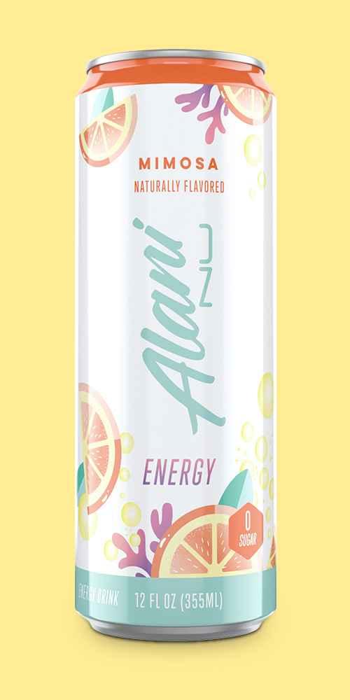 Alani Mimosa Energy Drink - 12 fl oz Can, Alani Hawaiian Shaved Ice Energy Drink - 12 fl oz Can, Alani Watermelon Energy Drink -12 fl oz Can