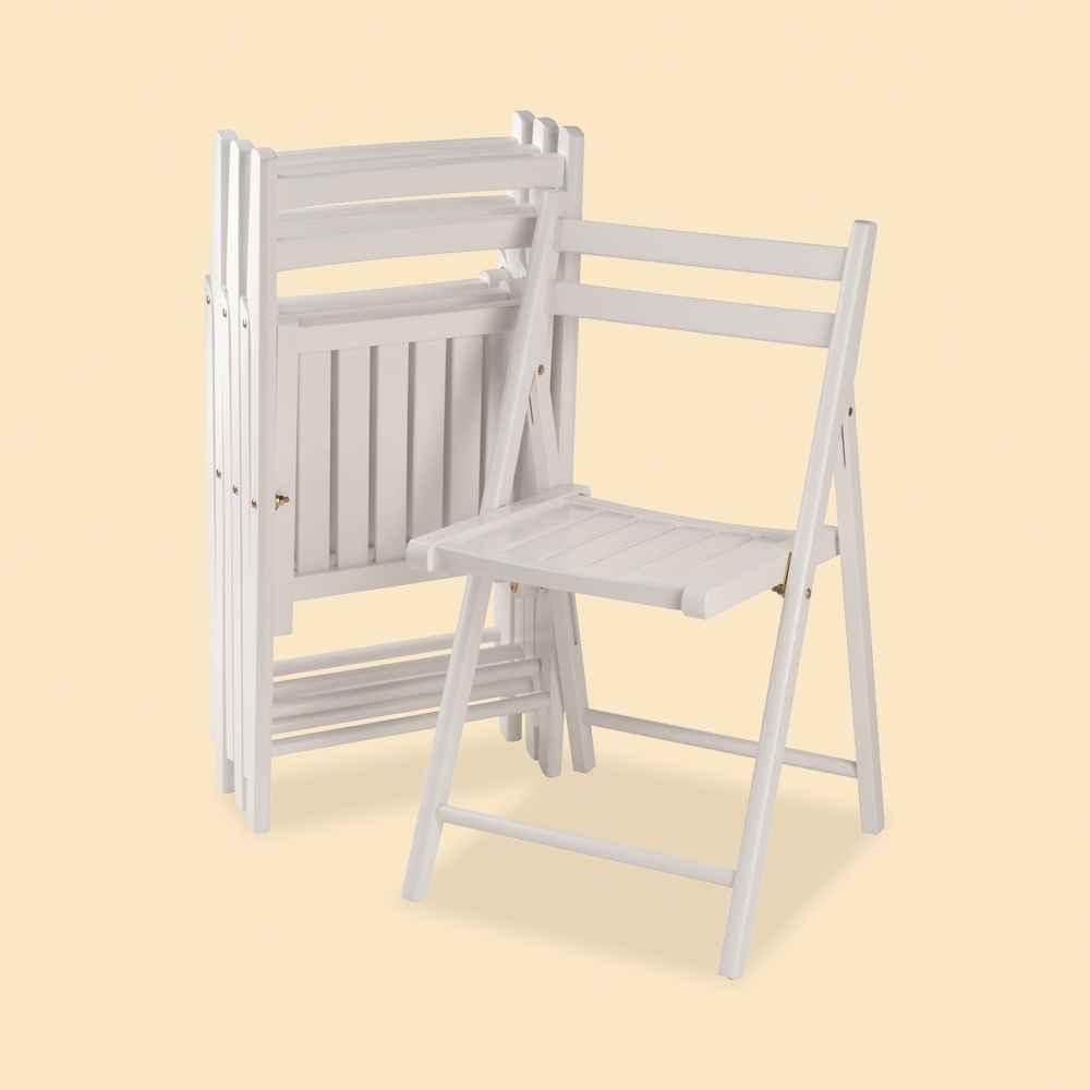 4pc Robin Folding Chair Set White - Winsome