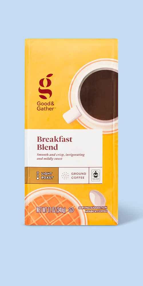 Breakfast Blend Light Roast Ground Coffee - 12oz - Good & Gather™