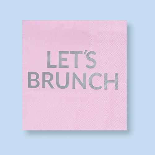 Juvale 50-Pack Pink Disposable Paper Napkins Brunch Party Supplies 5 x 5 in