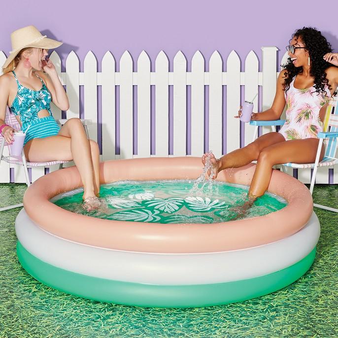 Tropical Palm Leaf Pool - Sun Squad™