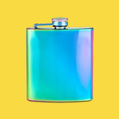 True Fabrications 6oz Stainless Steel Party Flask - Blue/Green/Purple