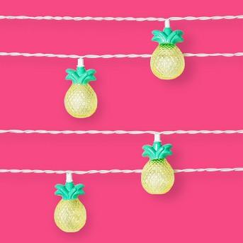 10ct Pineapple String Lights Yellow - Sun Squad™