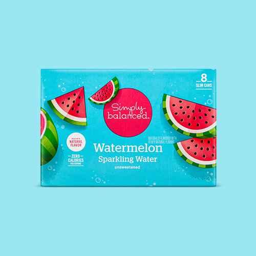 Watermelon Sparkling Water - 8pk/12 fl oz Cans - Simply Balanced™