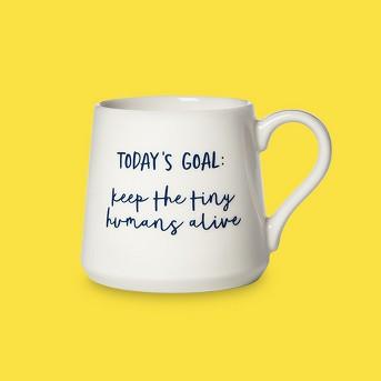 16oz Porcelain Today's Goal Mug White - Threshold™