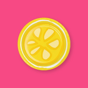 24ct Picnic Lemonade Disposable Dessert Plate