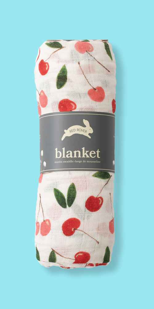 Red Rover Cotton Muslin Single Swaddle Blanket