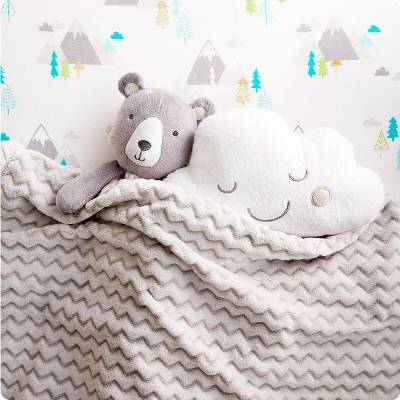 baby blanky and stuffed animals