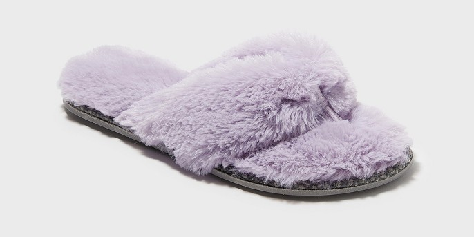 Women's Dearfoams Pile Thong with Trim Slippers
