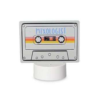 LED Lit Acrylic Sign Mixologist Cassette Novelty Sculpture Lights White - Room Essentials™
