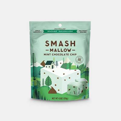 SmashMallow Mint Chocolate Chip Marshmallows - 4.5oz