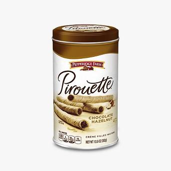 Pepperidge Farm® Pirouette® Crème Filled Wafers Chocolate Hazelnut Cookies, 13.5oz Tin
