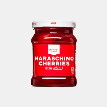 Maraschino Cherries in Light Syrup with Stems - 12oz - Market Pantry™
