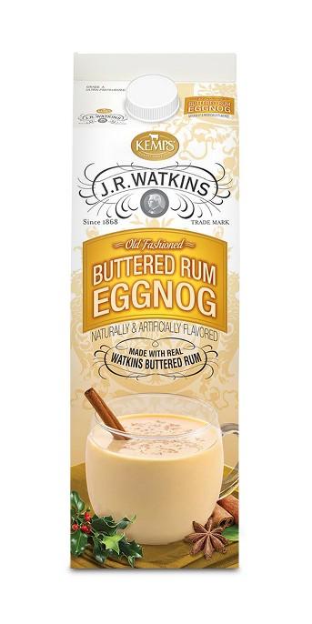 Kemps JR Watkins Buttered Rum Egg Nog - 1qt