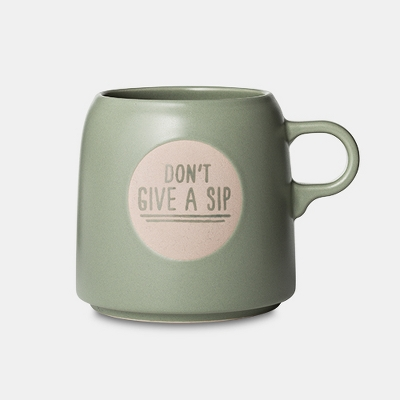 ./6oz Stoneware Don't Give A Sip Mug Light Green - Project 62™