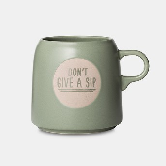 16oz Stoneware Don't Give A Sip Mug Light Green - Project 62™