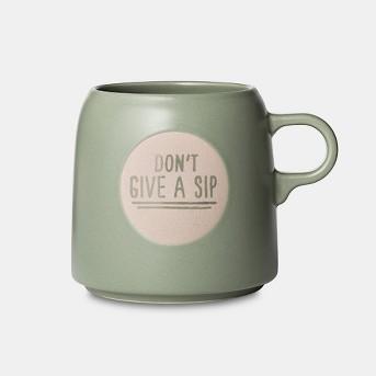 16oz Stoneware Don't Give A Sip Mug Light Green - Project 62™