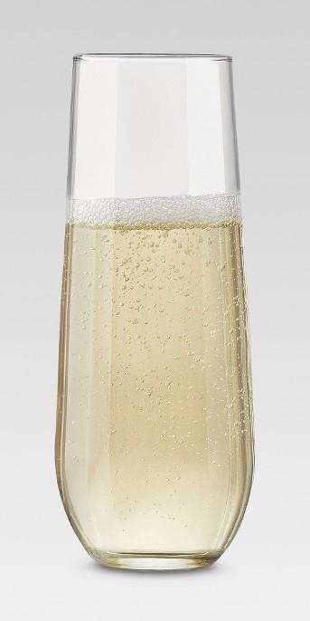 Black & White Global 8oz 4pk Stemless Champagne Flutes - Threshold™