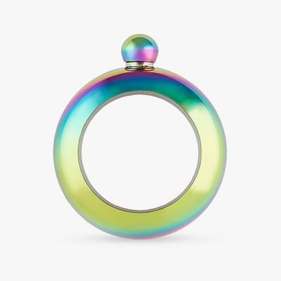 True Fabrications 4oz Stainless Steel Bracelet Flask - Green/Purple