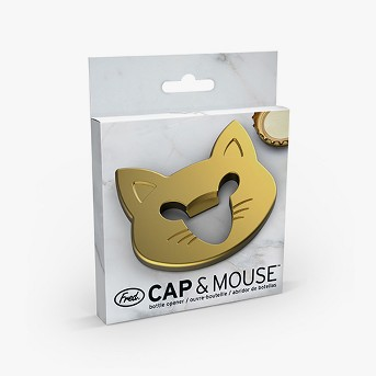 Gold Cap And Mouse Bottle Opener - Fred