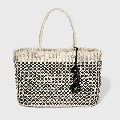 Large Straw Tote Handbag - A New Day™